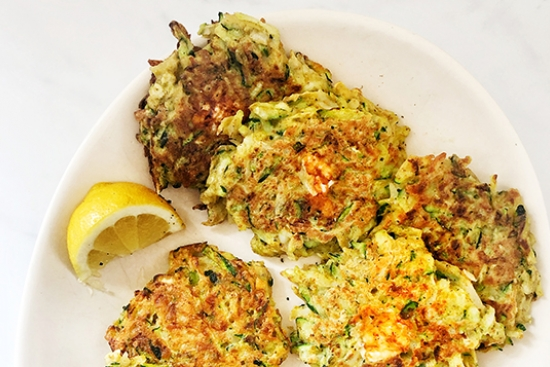 Curried Zucchini and Potato Fritters