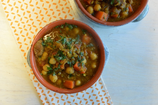 Moroccan Lamb Harira with Carrots & Red Lentils