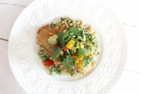 Rose Reisman's Chicken with Avocado, Tomato & Lemon Salsa