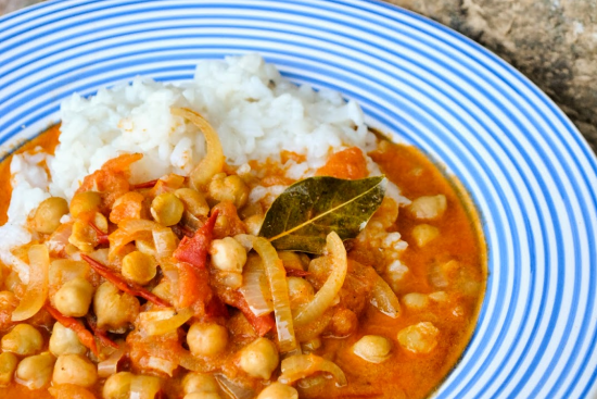 Chard & Tomato Chickpea Curry
