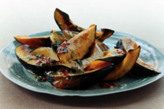 Roasted Acorn Squash with Chili Vinaigrette