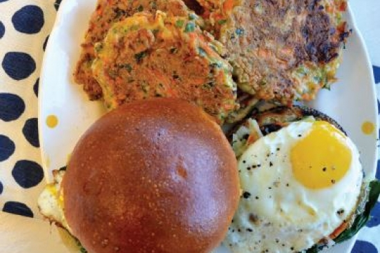 Sweet Potato Egg Muffins with Root Vegetable Fritters