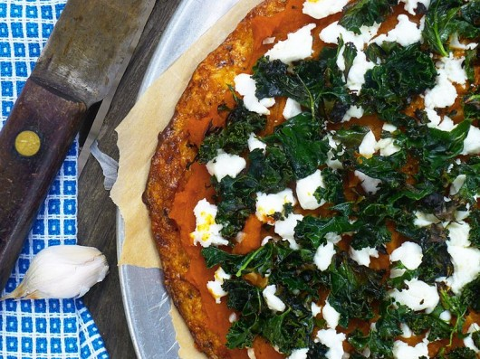 Sweet Potato, Goat Cheese and Kale Pizza - Pure and Simple