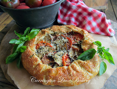Carrington Lane Bakery - Tomato and Eggplant Galette