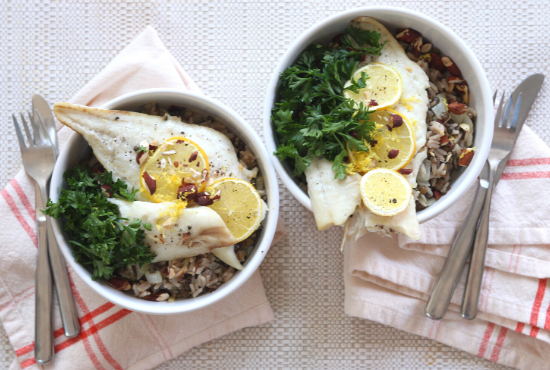 Fresh City's Organic Haddock & Mujadara Rice